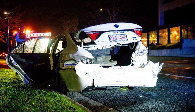 Smashed Toyota Camry