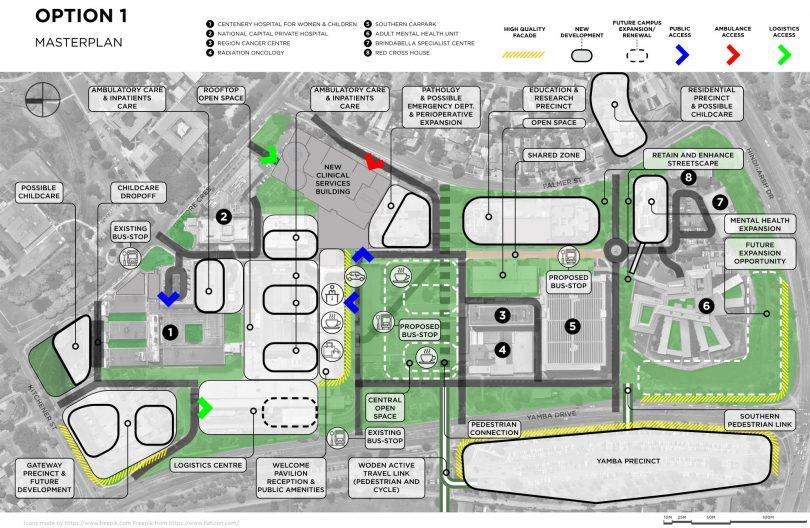 Canberra Hospital Masterplan option 1