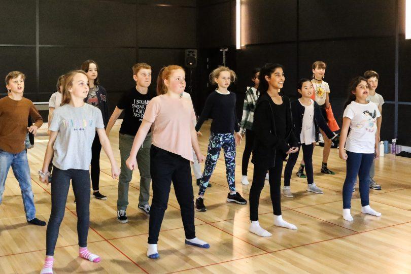 Children in a dance studio