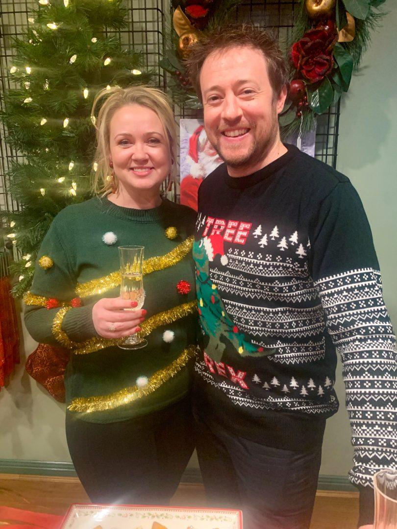Jenny Brogan and Ben Brogan at Under the Mistletoe store in Gold Creek Village