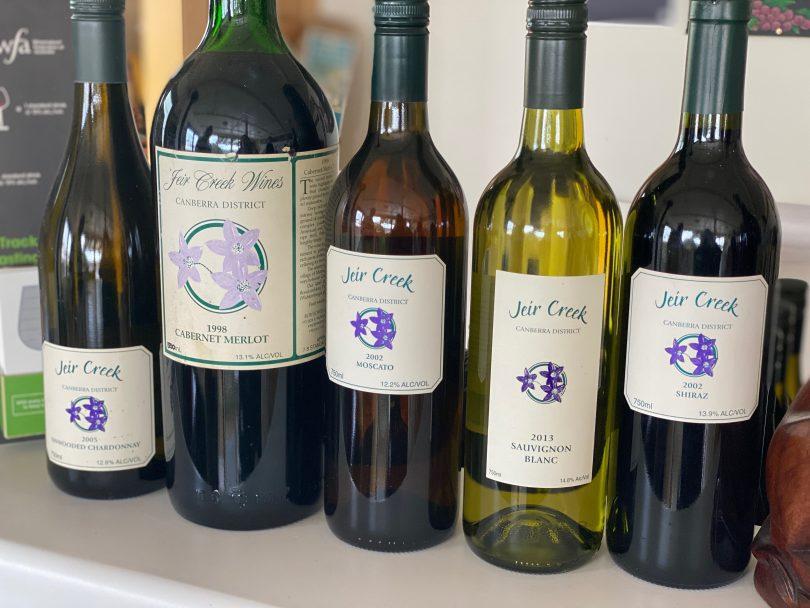 Jeir Creek wines