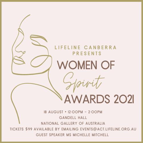 Women of Spirit Awards event flyer