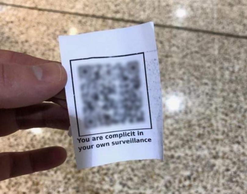 Fake QR codes