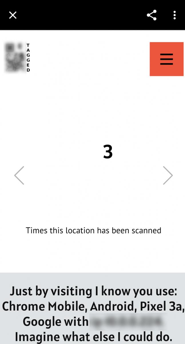 Fake QR code