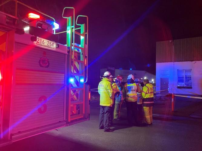 Fire crews at blaze in Fyshwick