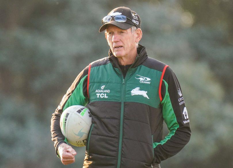 South Sydney Rabbitohs coach Wayne Bennett at training