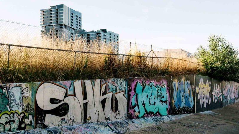 Graffiti wall at Woden drains