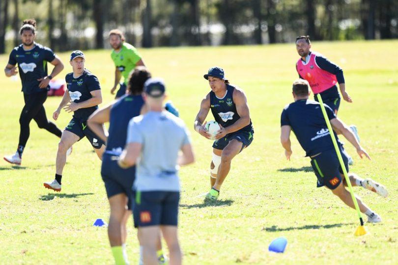 Raiders training on the Gold Coast