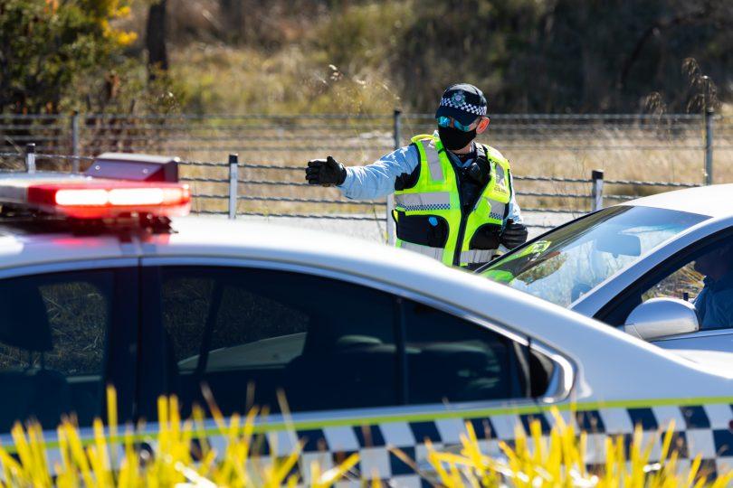AFP directing traffic