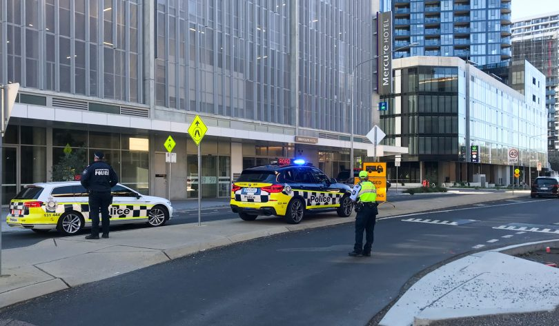 Police on the scene in Belconnen