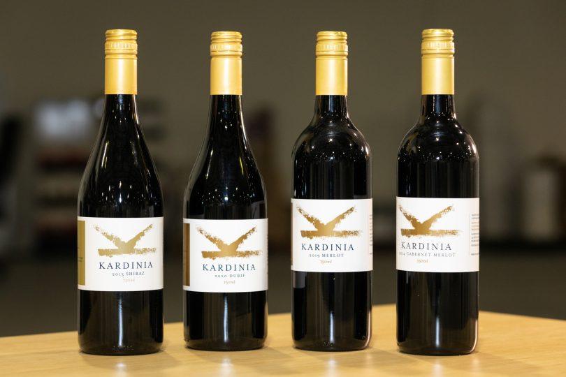 Kardinia Wine bottles.