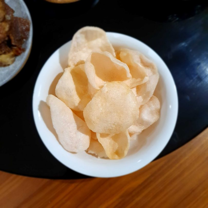 Prawn crackers from China Tea House