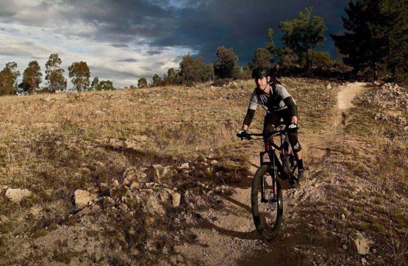 Jonathon Colbran riding mountain bike
