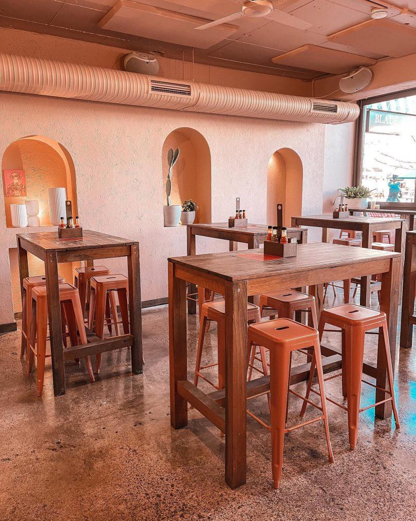 Interior of Loquita bar