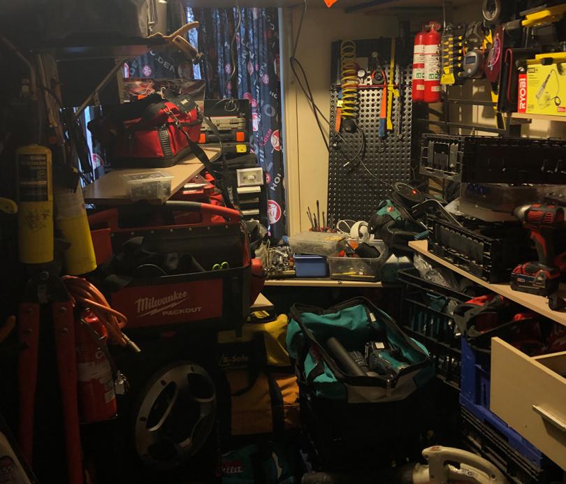 Allegedly stolen items