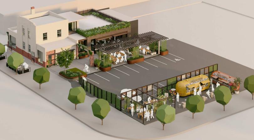Artist's impression of Coggan's Bakery development site in Braddon