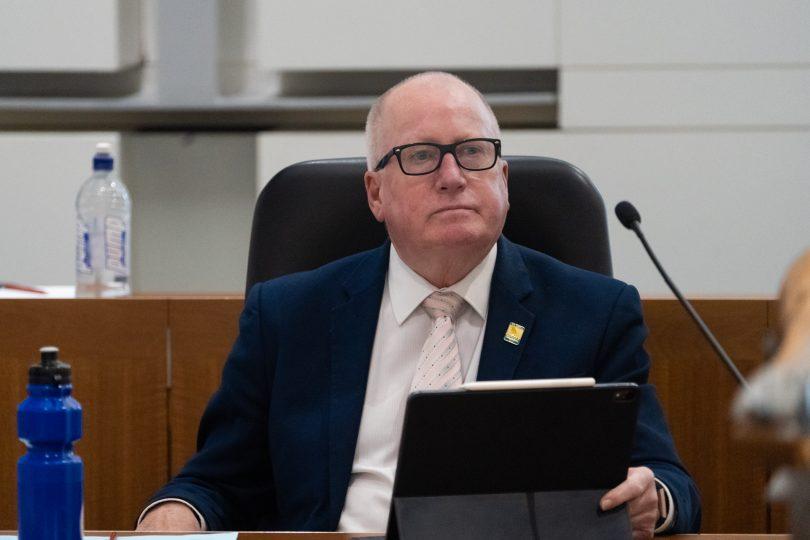Planning Minister Mick Gentleman