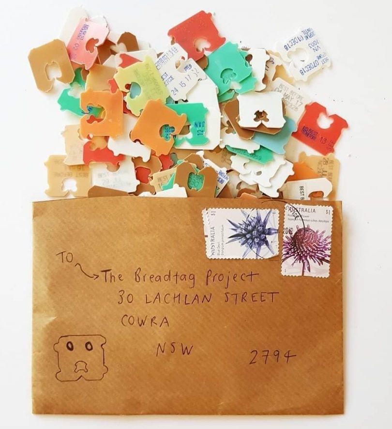Envelope full of breadtags