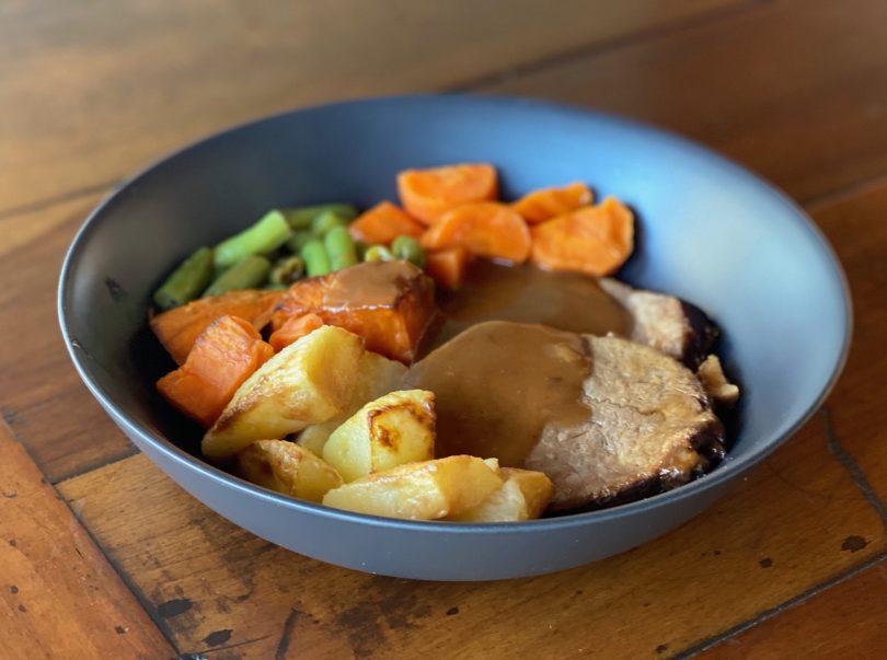 Roast and veggies