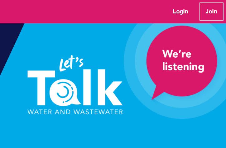 Screenshot of Icon Water's online customer engagement platform