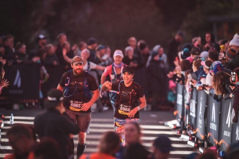 Mel Bingley running a race