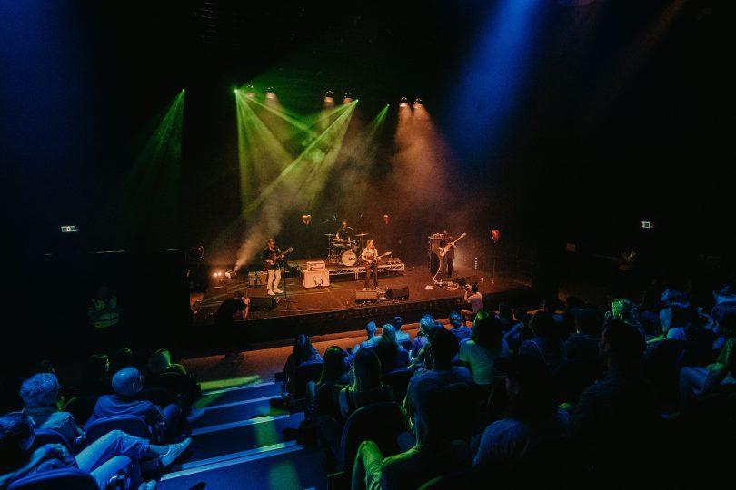 Sputnik Sweetheart performing onstage at Cultural Centre Kambri