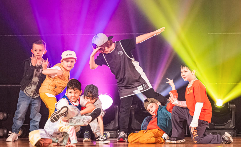 Kulture Break kids dancing onstage