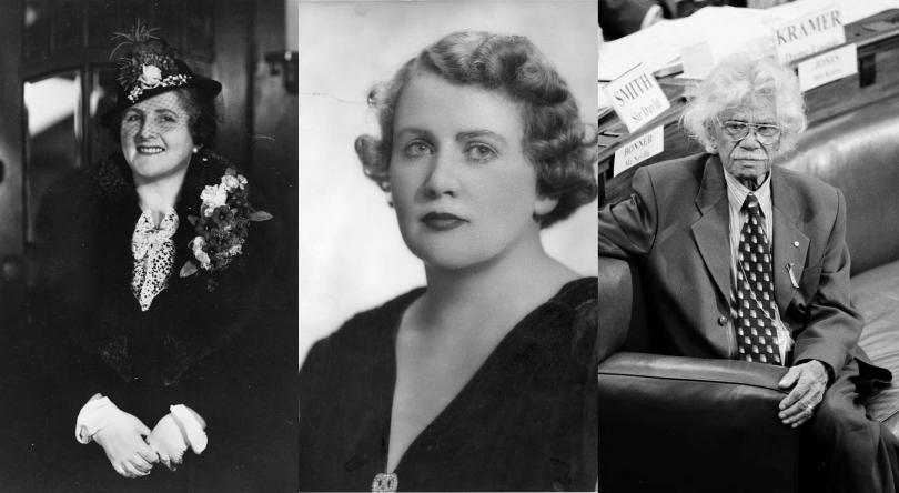 Enid Lyons, Dorothy Tangney and Neville Bonner