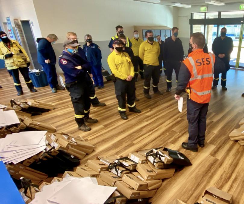 Emergency services volunteers