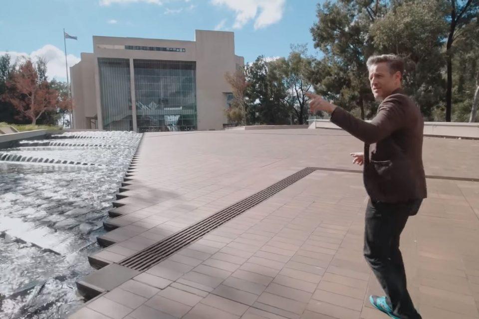 Archimarathon host Andrew Maynard at the High Court of Australia