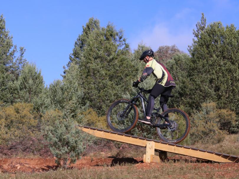 Mountain bike rider at Wagga Wagga Multisport Cycling Complex