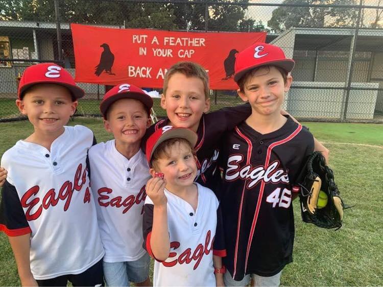 Eagles Baseball Club players