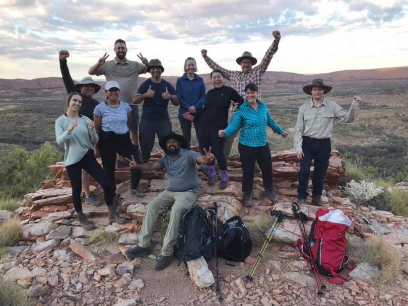 Hikers on the Larapinta trail