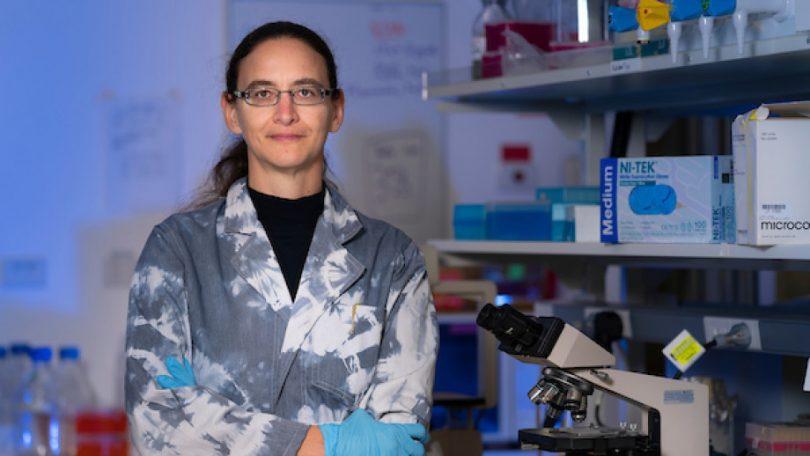 Associate Professor Aude Fahrer in a lab
