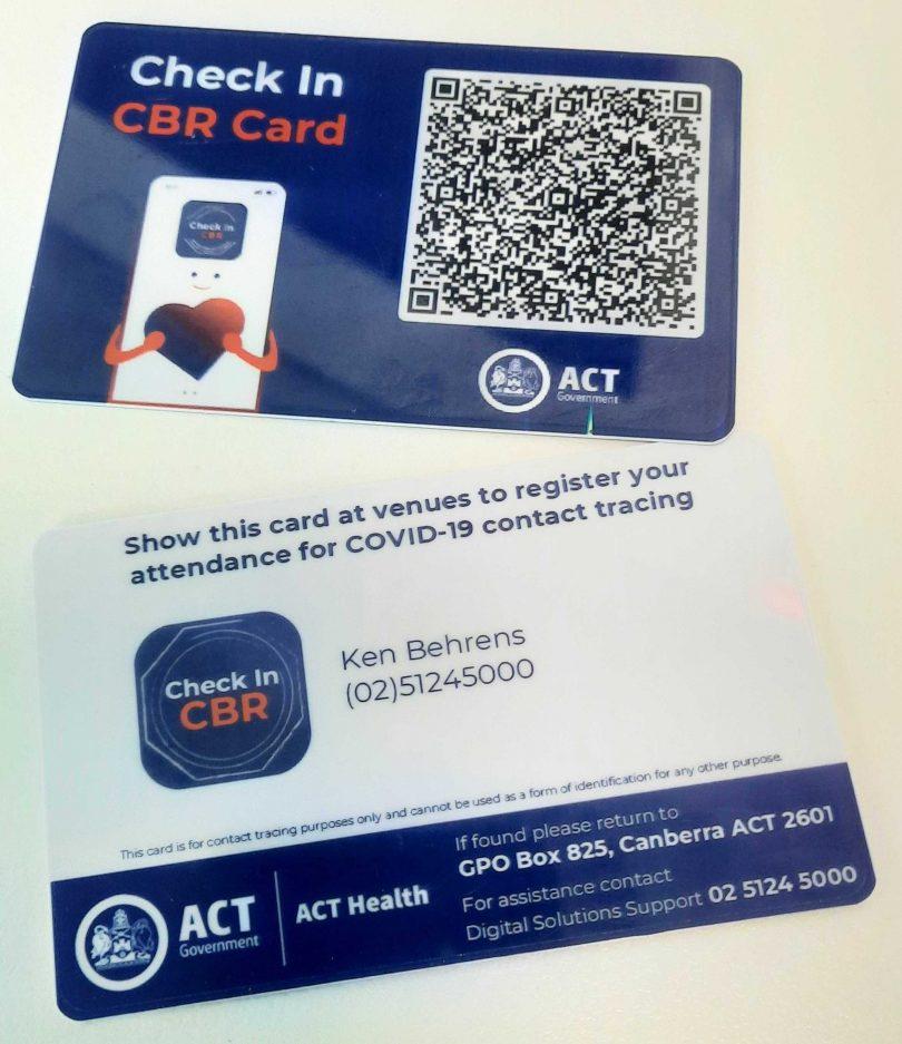 Check In CBR Card