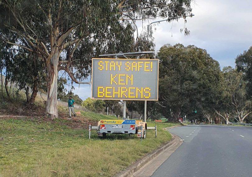 Ken Behrens sign