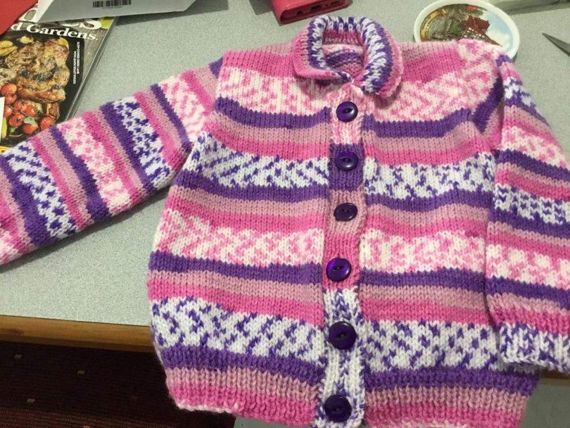 Pink and purple cardigan