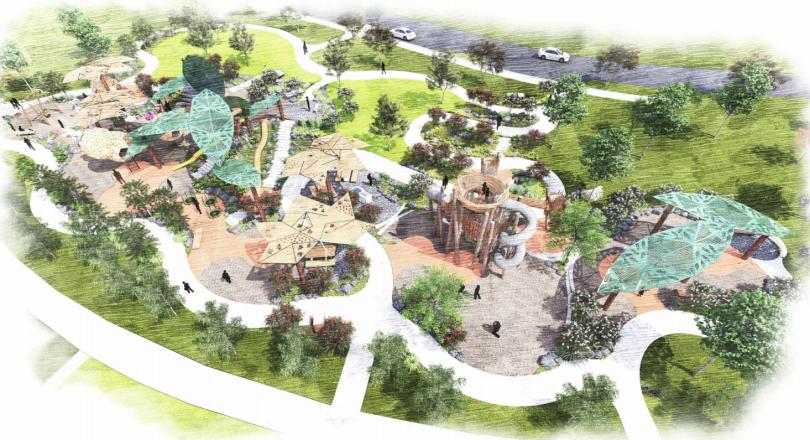 Playground design sketch
