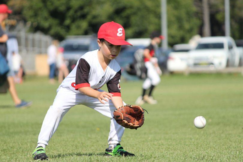 Daniel Shaw playing baseball for Eagles Baseball Club