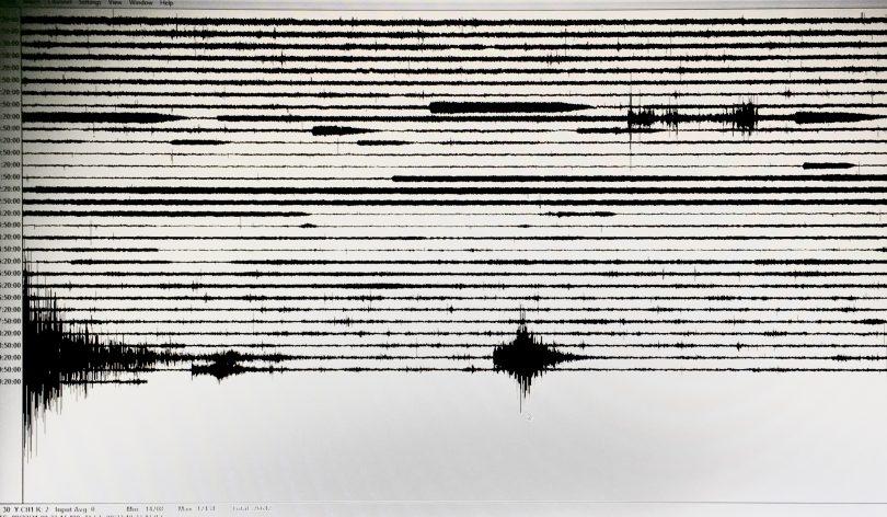 Seismograph reading