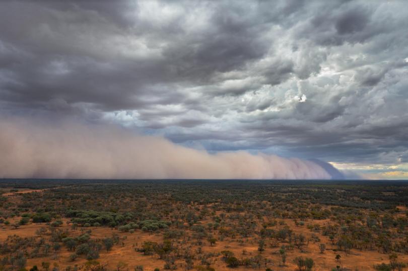 Cloud created by fire in Australian wilderness