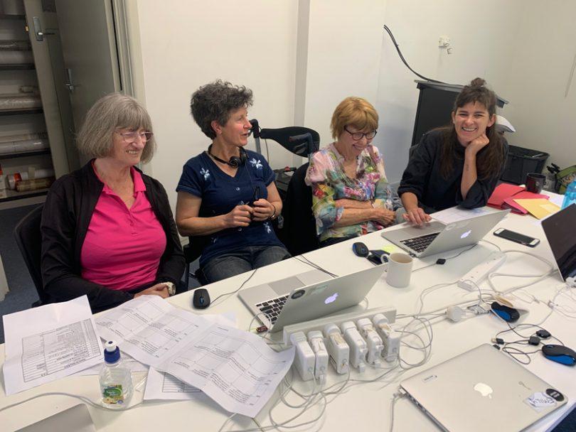 Women participants at 'Sue's Legacy' workshop at PhotoAccess