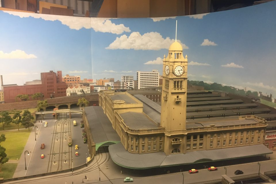 A scale model of Sydney Central train station