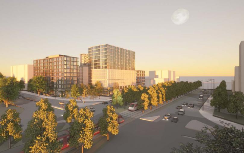 220 Northbourne Avenue development north-west view