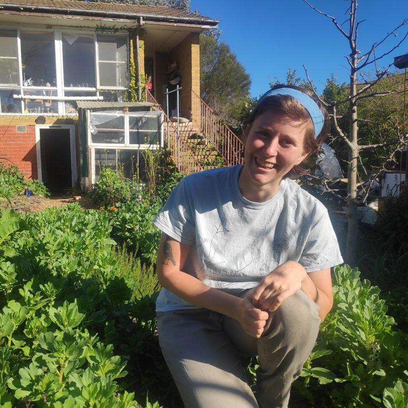Karina in a garden