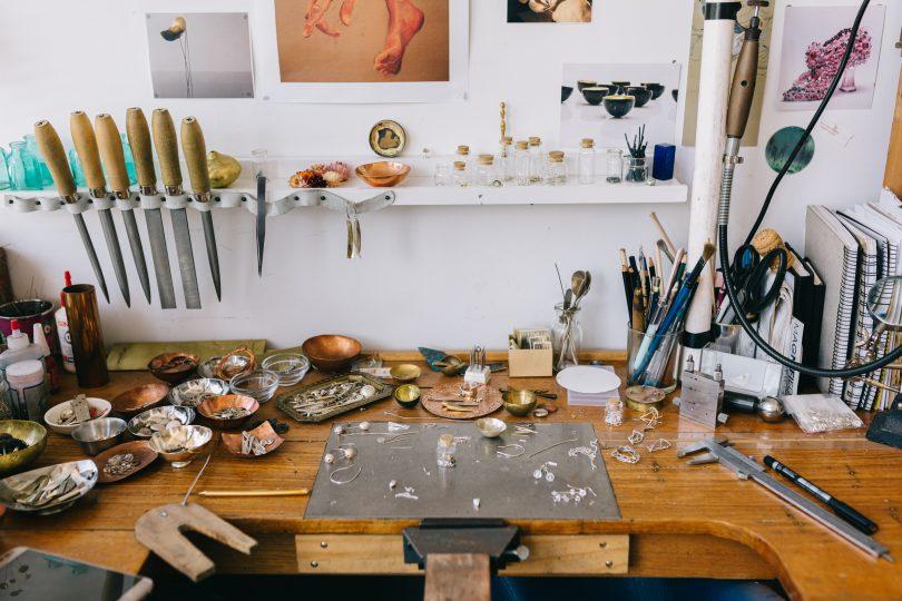 Angela Bakker and Sarah Murphy's open studio