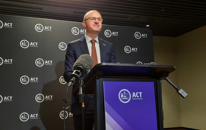 Chief Minister Andrew Barr