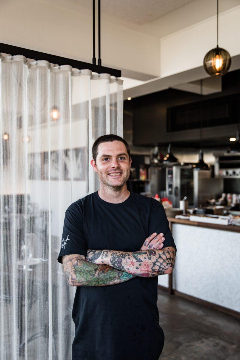 Chef Malcolm Hanslow in Pilot restaurant