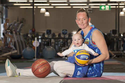 Michelle Cosier with baby son Levi