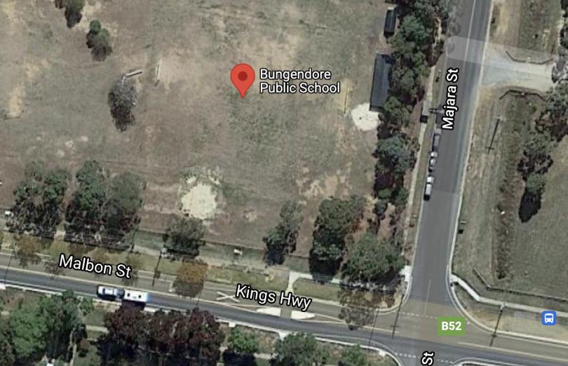 Google maps screenshot of Bungendore